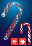 Candy. Christmas sugar by 2 perfect snowflake shape Stock Image