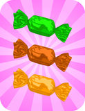 Candy. Vector illustration of delicious candy on background Royalty Free Stock Photo