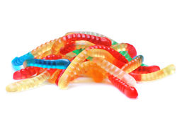 Candy. Close up of colored candy on white background Royalty Free Stock Images