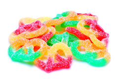 Candy. Close up of colored candy on whte background Stock Photography