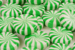 Candy. Spearmint candy on a white background stock photo