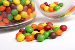 Candy. Colored candy on white background Stock Image