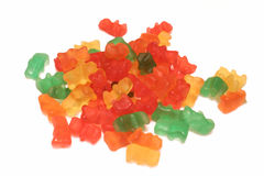 Candy. Colored candies on white background stock photos
