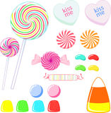 Candy. An assortment of candy drawn in Adobe Illustrator