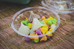 Candy Aalaw. Thai dessert colorful sweet candy Stock Photography