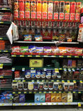 Candy aisle of a grocery store Royalty Free Stock Photo