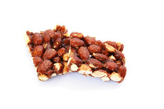 Candy with almonds stock images