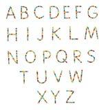 Candy alphabet Stock Image