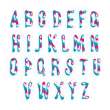 Candy alphabet. Vector illustration Stock Photography