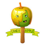 Candy apple character. Cartoon vector illustration Royalty Free Stock Photography