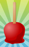 Candy apple illustration Royalty Free Stock Photo