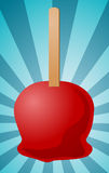 Candy apple illustration Stock Images