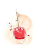 Candy apple watercolour Royalty Free Stock Photography