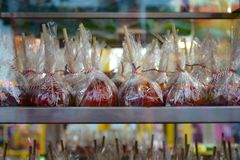 Candy Apples at State Fair stock image