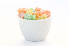 Candy Babies. Jelly babies in a bowl Stock Photos