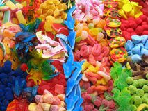 Candy background. Assorted colorful jelly candies background Royalty Free Stock Images