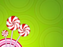 Candy background. Illustration of sweet candies and colored circles Stock Images