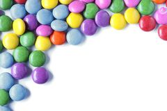 Candy background. With copy space isolated on white Stock Images
