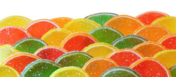 Candy background. Yellow, red, green and orange fruit candy background Royalty Free Stock Photography