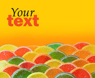 Candy background. Colorful candy on bright background royalty free stock images