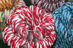 Candy background. Christmas fair. Stock Image