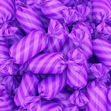 Candy background, 3D rendering. 3D visualization of multi-colored candy wrapper, 3D rendering Royalty Free Stock Photography