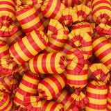 Candy background, 3D rendering. 3D visualization of multi-colored candy wrapper, 3D rendering Stock Photo