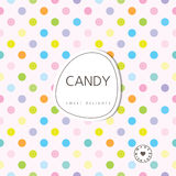 Candy background - sweet delights. Royalty Free Stock Image