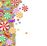 Candy background. Background candy on wrapping paper Royalty Free Stock Photos