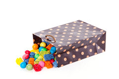 Candy bag with mixed sweets Stock Photo