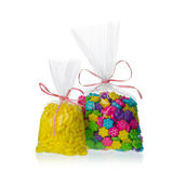 Candy bags isolated Stock Images