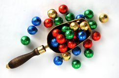 Candy Balls In Colorful Wrappers Royalty Free Stock Photos