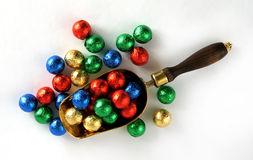 Candy Balls In Colorful Wrappers Stock Photo