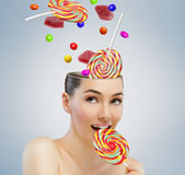 Candy bar stock image