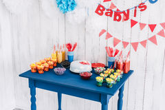 Candy bar bottle with tubes Royalty Free Stock Images