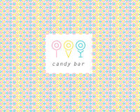 Candy bar brand mark design. Stock Photography