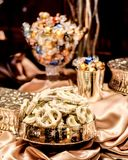 Candy Bar. A Candy Bar set up at a wedding featuring chocolate and dipped pretzels Royalty Free Stock Image