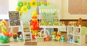 Candy bar on children`s birthday party