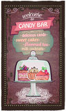 Candy bar cute menu. Royalty Free Stock Image