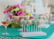 Candy Bar. Cute candy bar with various candies and cakes Royalty Free Stock Photos