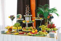 Candy bar with fruit Royalty Free Stock Photo