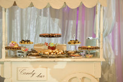Candy bar. With many cakes Royalty Free Stock Image