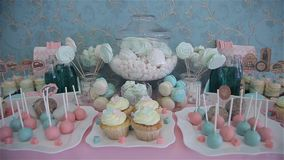 Candy bar. In mint colors stock video