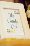Candy bar photo frame Royalty Free Stock Images