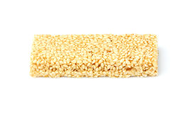 Candy bar with sesame seeds. Royalty Free Stock Images