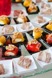 Assortment Appetizers and finger food stock image