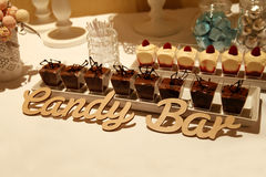 Candy bar. Sweet candy bar, dessert in a glass Royalty Free Stock Photo
