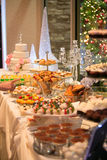 Candy bar table royalty free stock photo
