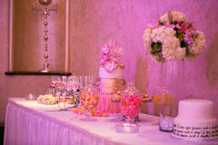 Candy bar table Royalty Free Stock Photos
