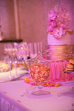 Candy bar table Royalty Free Stock Image